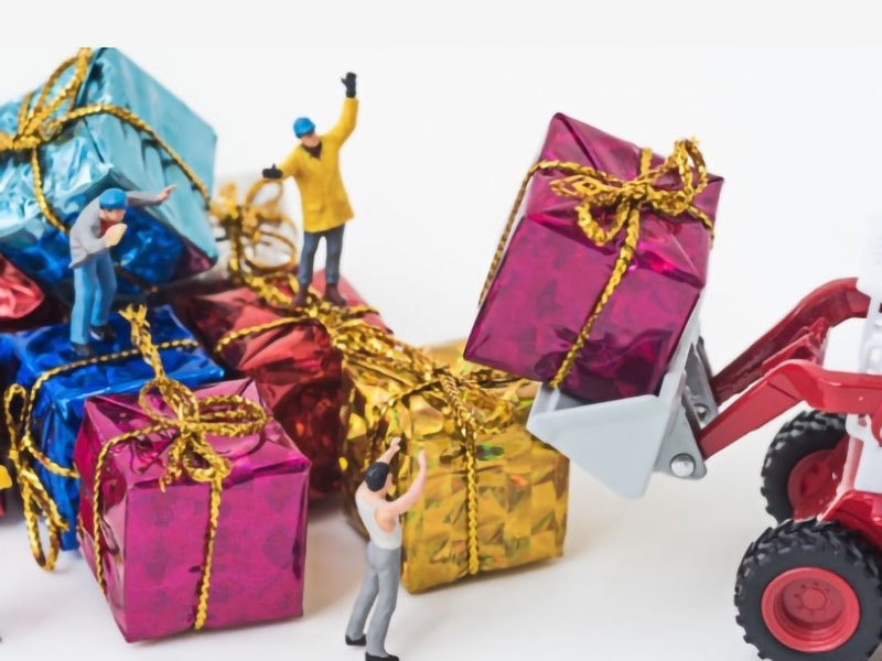 gift, workers, miniatures, box, offer, calabria, reggio